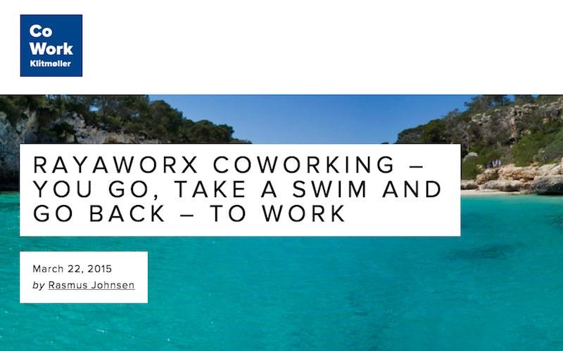cowork klitmøller - screenshot rayaworx coworking