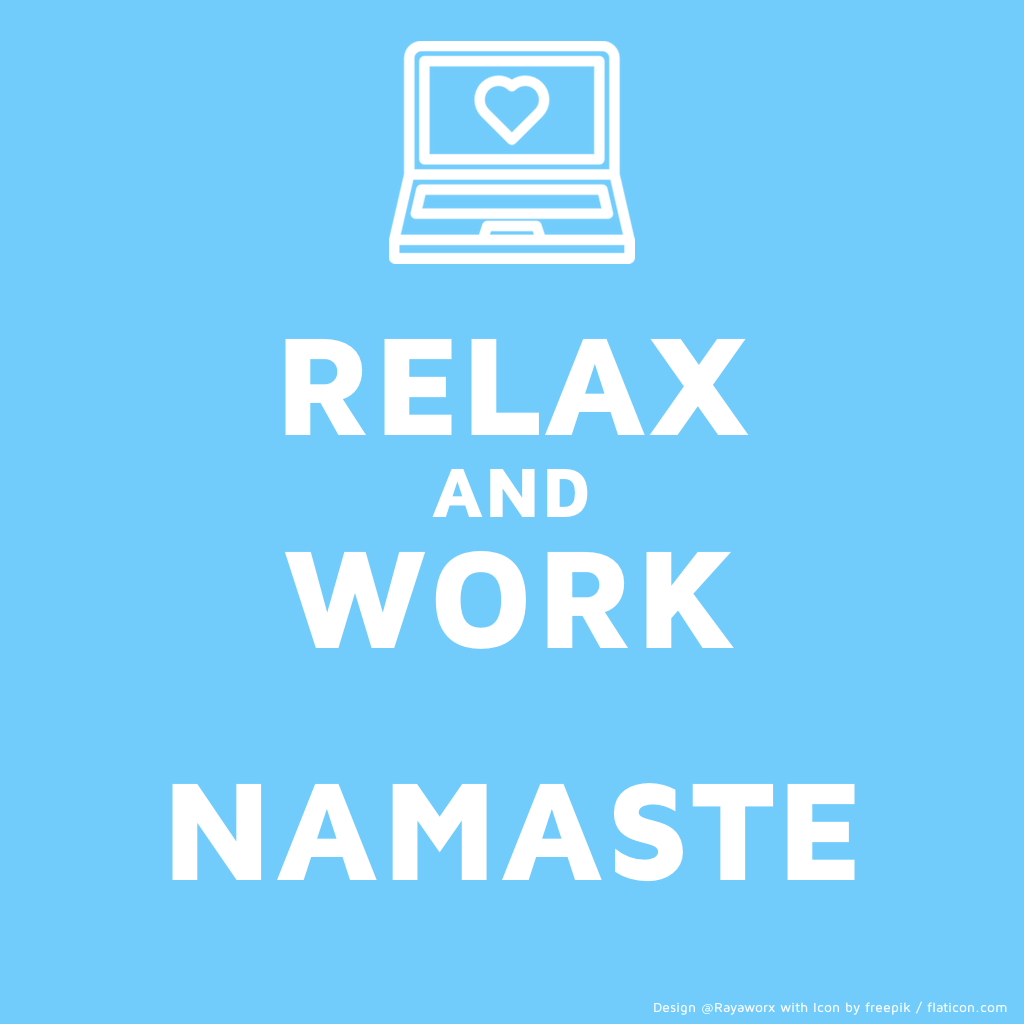relax & work Laptop Asana illustration