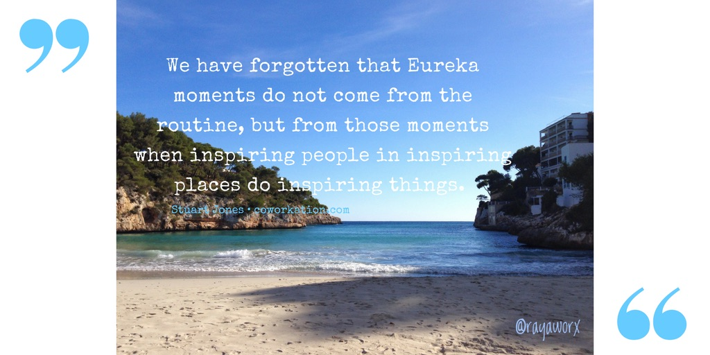 coworking quote eureka moment