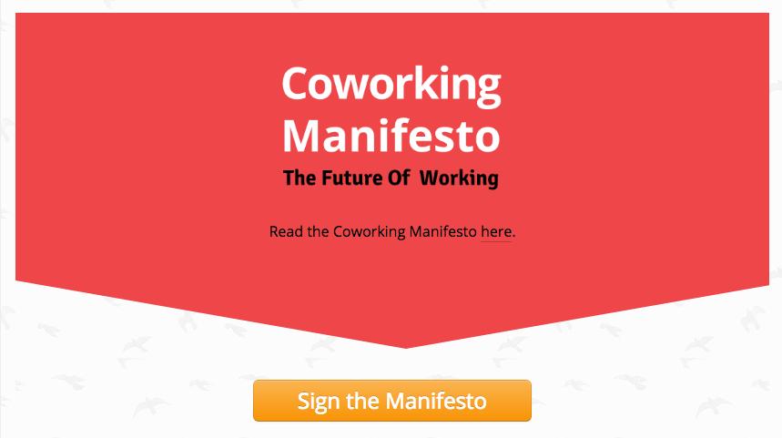 Coworking Manifesto Screenshot