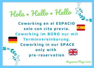 Rayaworx Coworking Cita Previa - Terminvereinbarung - pre-reservation
