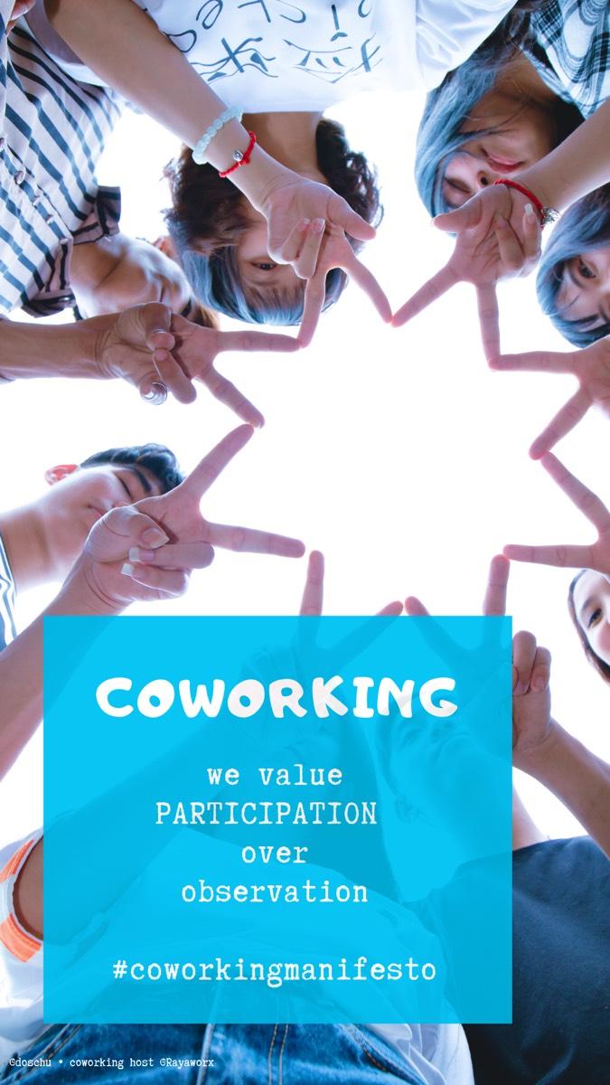 Participation • Coworking Manifesto