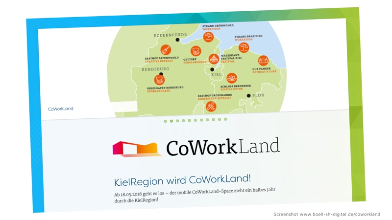 Screenshot CoWorkland Website