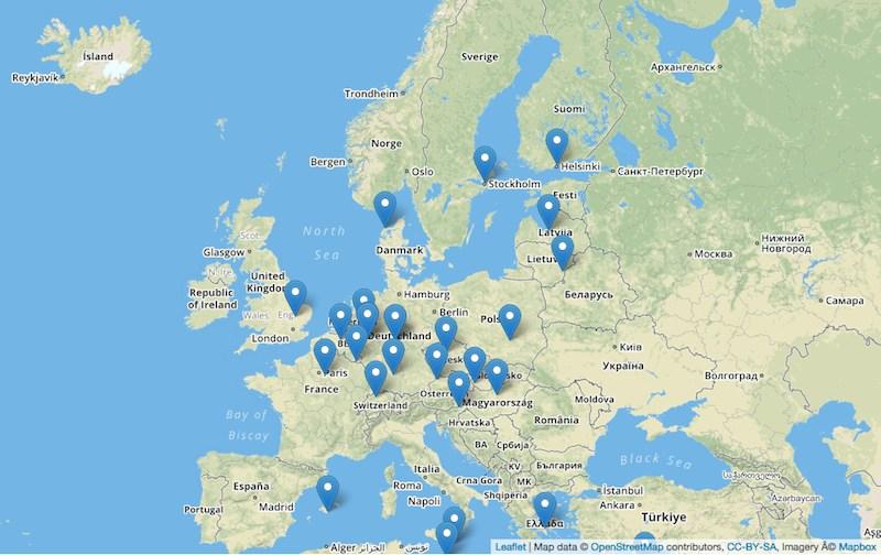 interaktive Landkarte Sensoren fewl
