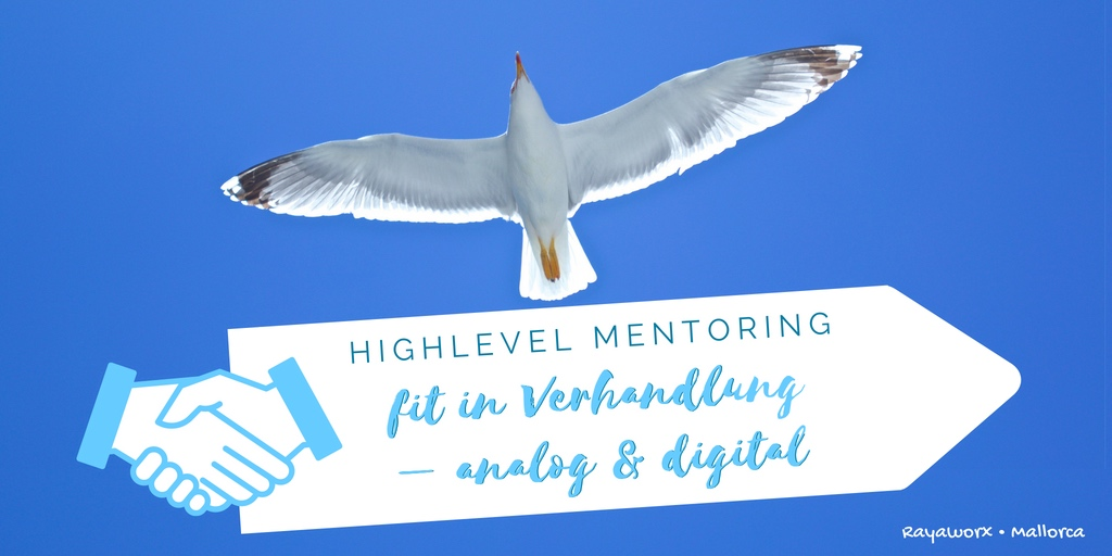 Highlevel Mentoring Verhandlung analog und digital