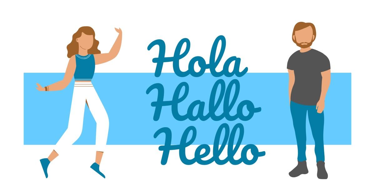 Hola Hallo Hello