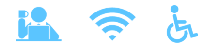 icons coworking wifi accessibility