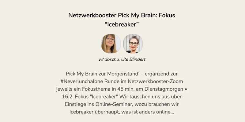 Pick My Brain: Fokus Icebreaker