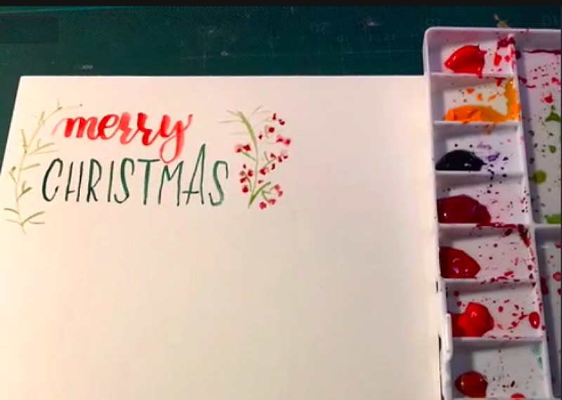 Frau Maravillosa Lettering Merry Christmas