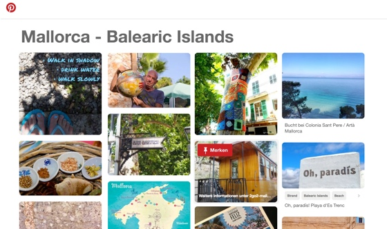 Vorschau Pinterest Board Mallorca