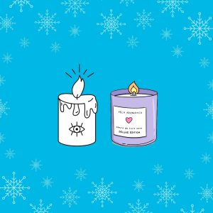 Illustration advent poetry two candles