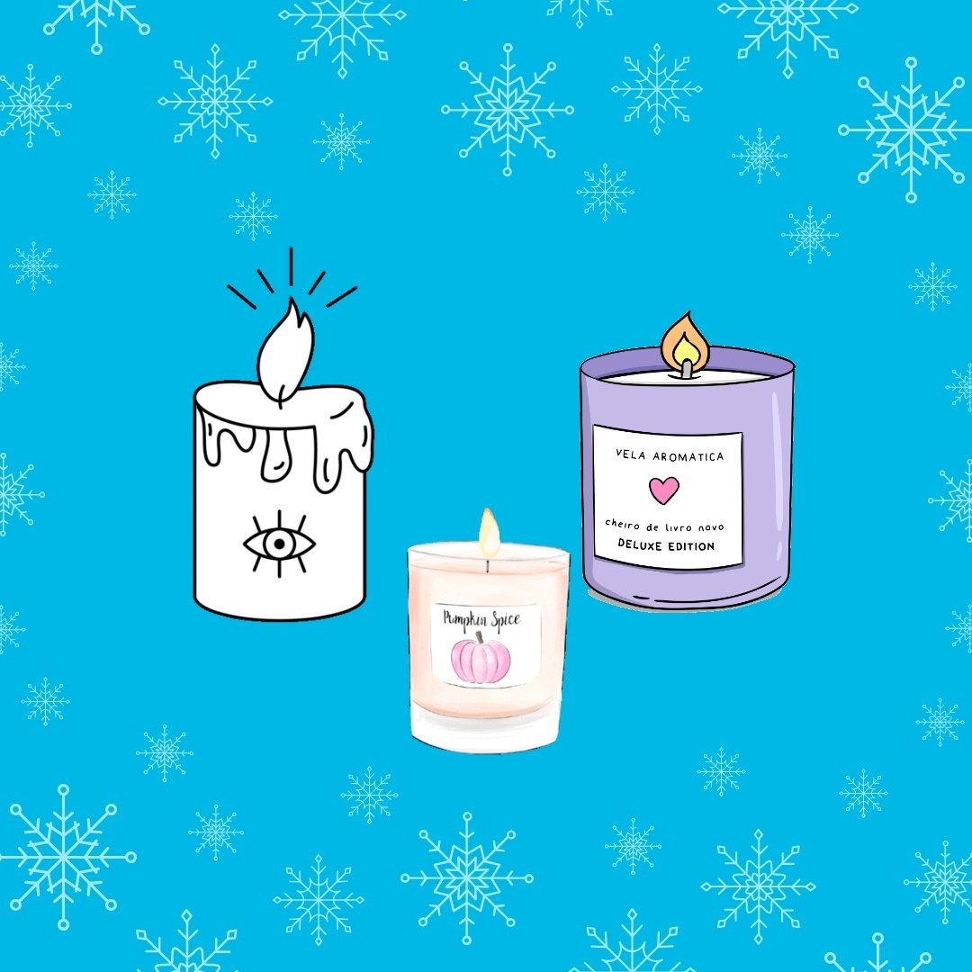 Illustration advent poetry three candles