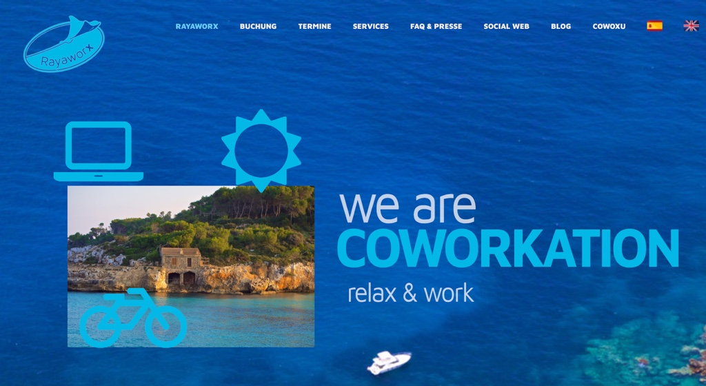 Rayaworx website coworkation coworking