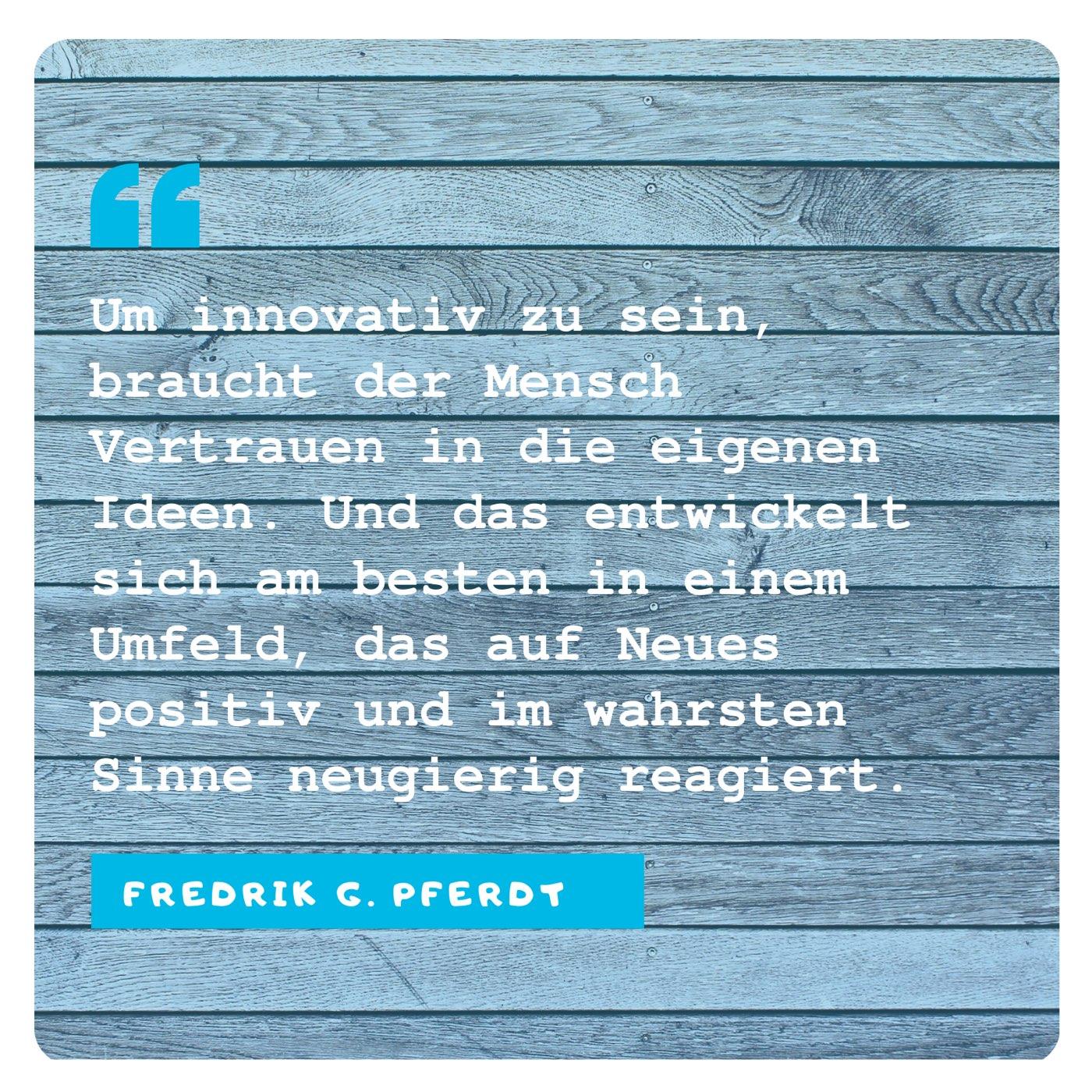 Frederik Pferdt: Innovation