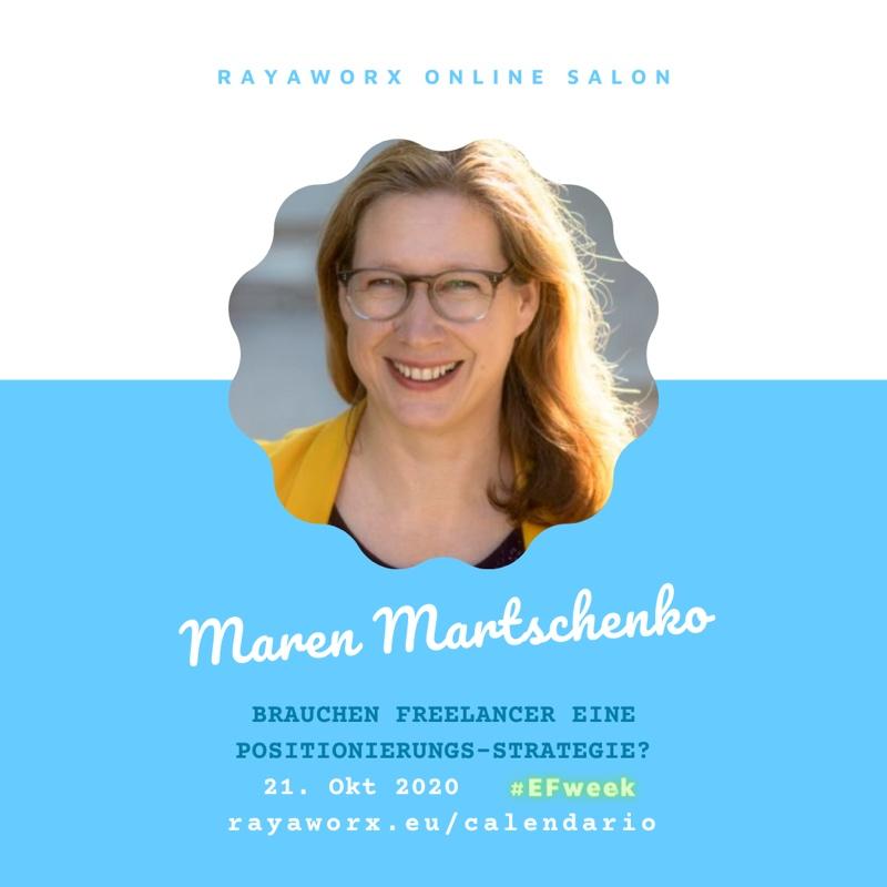 Maren Martschenko: Positionierung