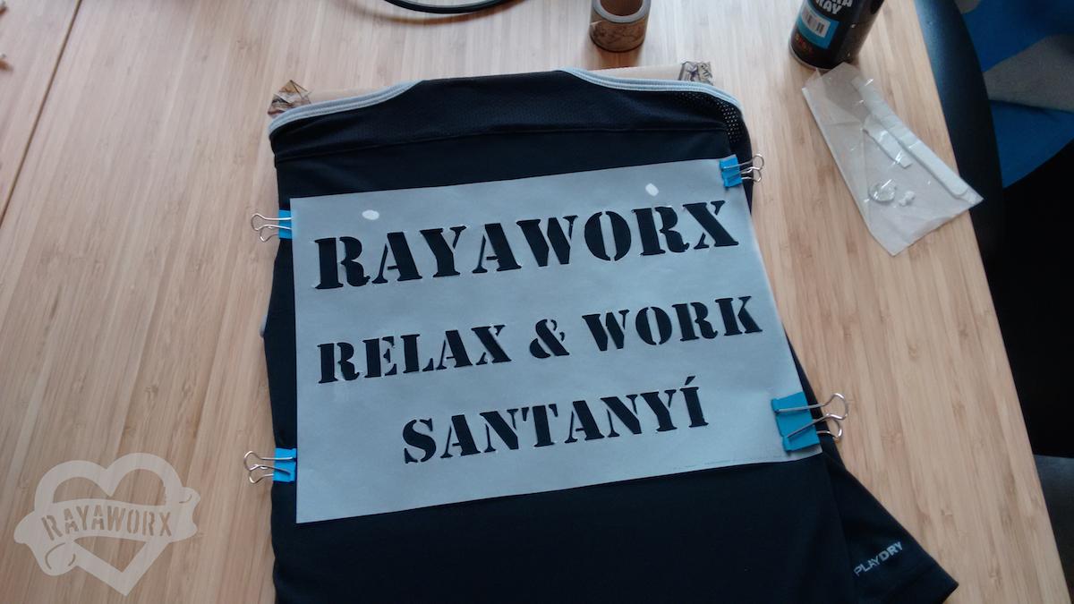 Rayaworx Schablone für das Laufshirt beim Palma Womens Marathon