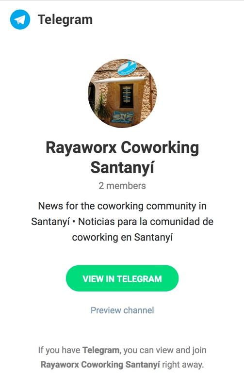 Rayaworx Coworking on Telegram