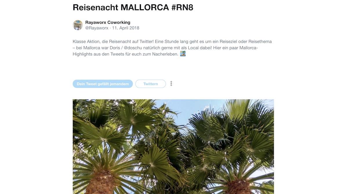 Reisenacht Mallorca #rn8