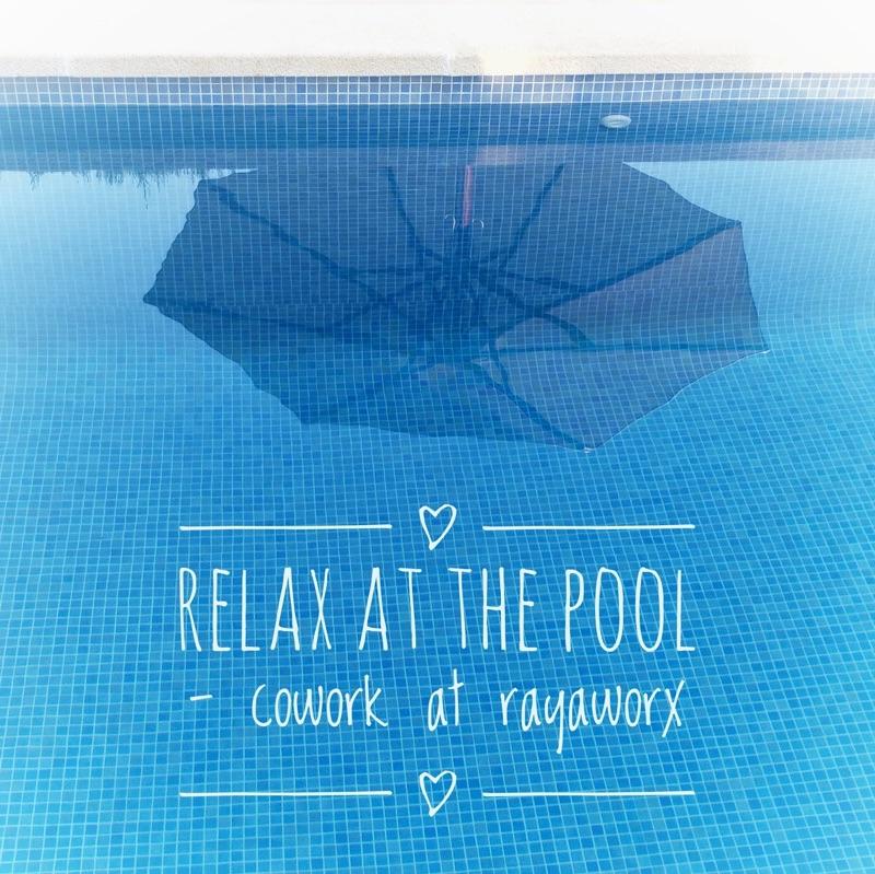 relax pool coworking rayaworx mallorca