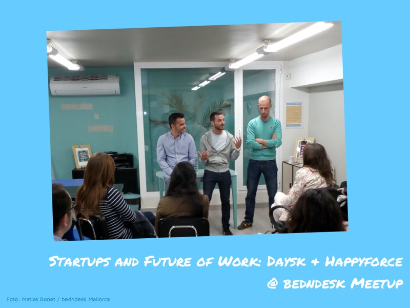 startups and future of work Daysk & HappyForce